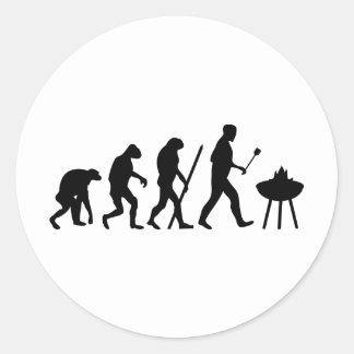 barbecue evolution classic round sticker