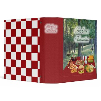 Barbecue Favorites Recipe Binder/Notebook binder