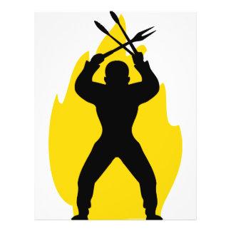 barbecue freak icon flyers