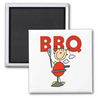 Barbecue Gift 2 Inch Square Magnet