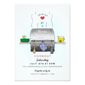 Barbecue Grill Housewarming Party Invitation
