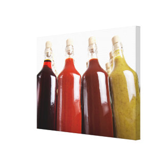 Barbecue hot sauces canvas print