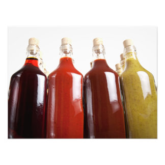 Barbecue hot sauces photographic print