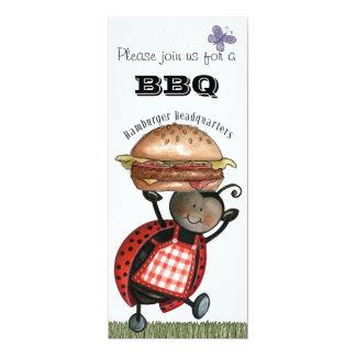 """barbecue Invites 4"""" X 9.25"""" Invitation Card"""