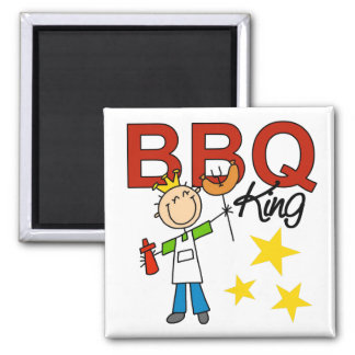 Barbecue King 2 Inch Square Magnet