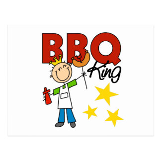 Barbecue King Gift Postcard