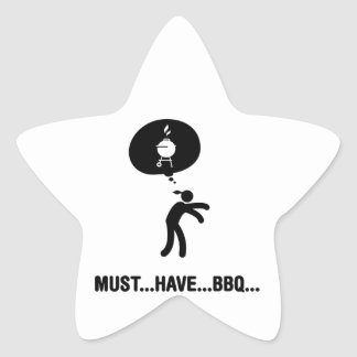 Barbecue Lover Star Stickers