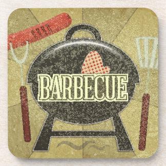 Barbecue Menu Beverage Coaster