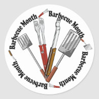Barbecue Month - Chef Tools Classic Round Sticker