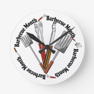 Barbecue Month - Chef Tools Round Clock