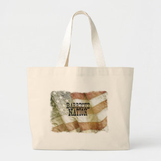Barbecue Nation USA (with a C) Large Tote Bag