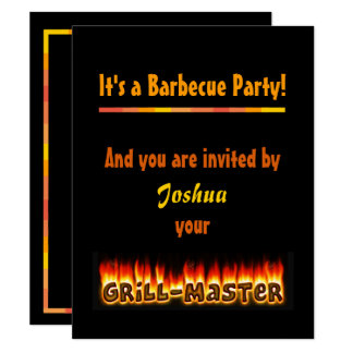 Barbecue Party Invitation by Grillmaster (nameI