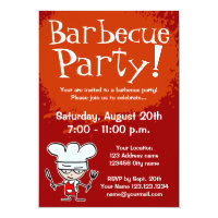 Barbecue party invitations | BBQ invites