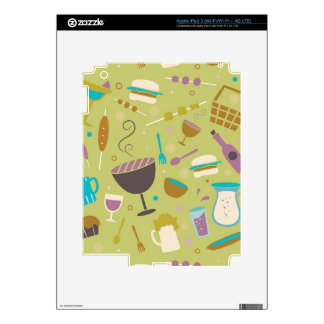 Barbecue Pattern Decal For iPad 3