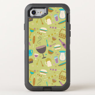 Barbecue Pattern OtterBox Defender iPhone 8/7 Case