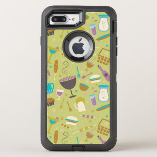 Barbecue Pattern OtterBox Defender iPhone 8 Plus/7 Plus Case