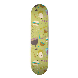 Barbecue Pattern Skateboard Deck