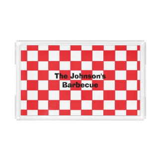 """""""Barbecue"""" Personalized Acrylic Serving Tray Rectangle Serving Trays"""