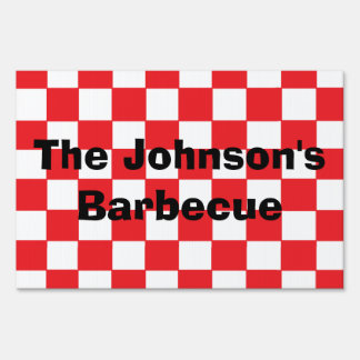 """Barbecue"" Personalized Yard Sign"