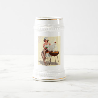 Barbecue Pin-Up Girl Beer Stein