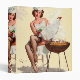 Barbecue Pin-Up Girl Vinyl Binders