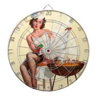 Barbecue Pin-Up Girl Dartboard