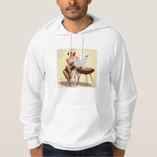 Barbecue Pin-Up Girl Hoodie