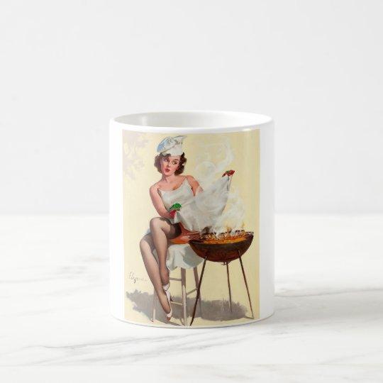 Barbecue Pin-Up Girl Magic Mug