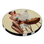 Barbecue Pin-Up Girl Poker Chip Set