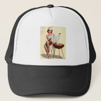 Barbecue Pin-Up Girl Trucker Hat