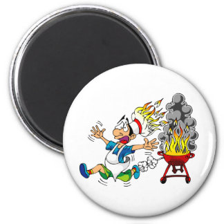 Barbecue pit master grill bbq smoker 2 inch round magnet