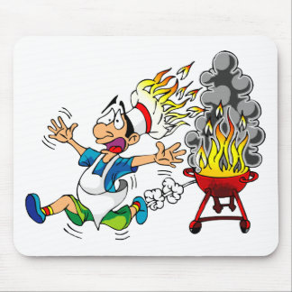 Barbecue pit master grill bbq smoker mouse pad