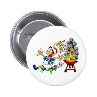 Barbecue pit master grill bbq smoker pinback button