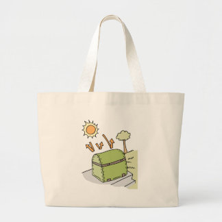 Barbecue protected by cover large tote bag