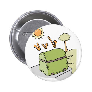 Barbecue protected by cover pinback button