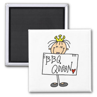 Barbecue Queen 2 Inch Square Magnet