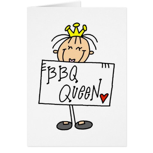 Barbecue Queen Greeting Card