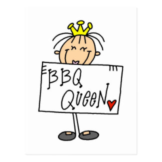 Barbecue Queen Postcard
