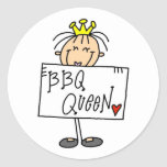 Barbecue Queen Stickers
