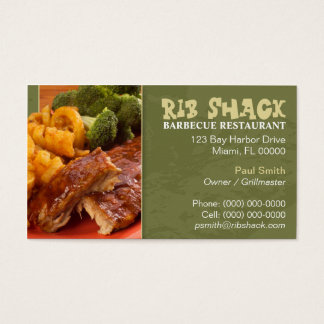 Barbecue Restaurant Business Card