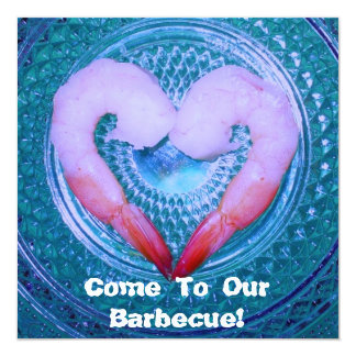 Barbecue Shrimp Party Invitation