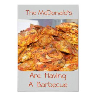 Barbecue Spicy Chicken BBQ Party Invitation