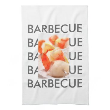 Beach Themed Barbecue Style Hand Towel