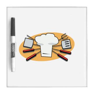 Barbecue Supplies Dry Erase White Board