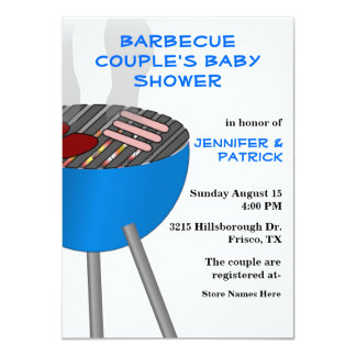 Barbecue Themed Couple's Baby Shower Invitation
