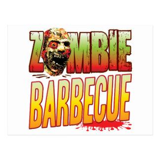 Barbecue Zombie Head Postcard