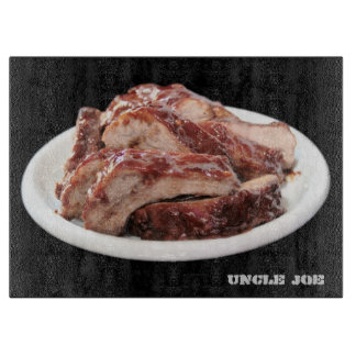 Barbecued baby back ribs cutting board