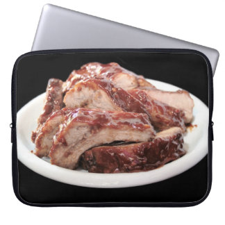 barbecued baby back ribs neoprene laptop sleeve