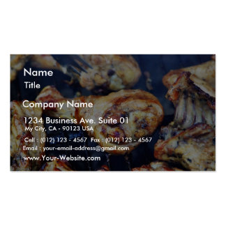 Barbecued Chicken At Solstice Business Card Templates