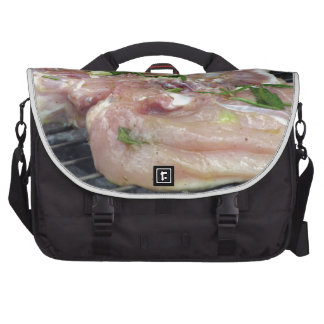 Barbecued chicken on the grill commuter bag